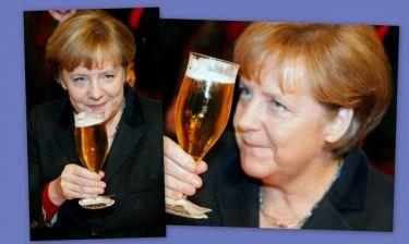 Άνγκελα Μέρκελ: Το… γερό ποτήρι