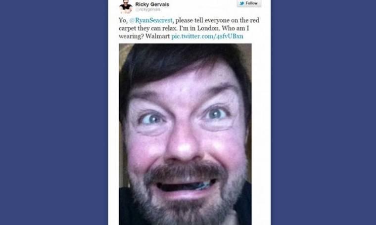Ο Ricky Gervais δήλωσε «απών» από τα βραβεία Oscar