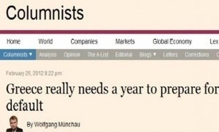 Financial Times: Η Ελλάδα θα χρεοκοπήσει!