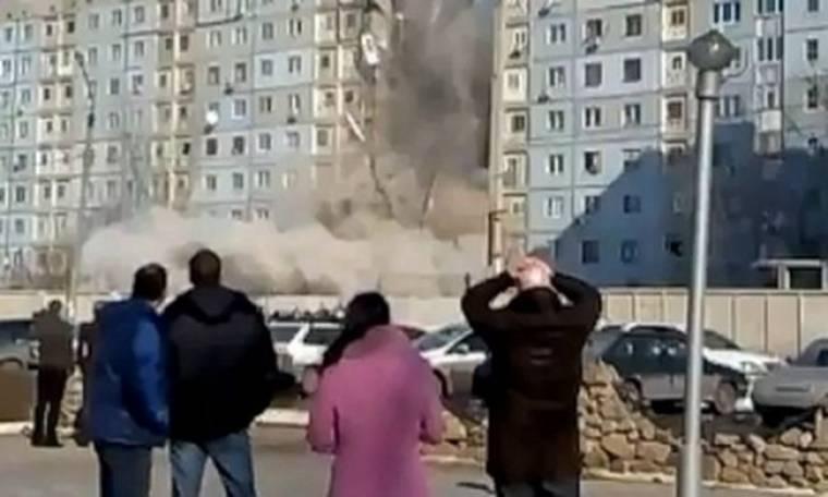 VIDEO: Η συγκλονιστική στιγμή έκρηξης σε εννιαόροφη πολυκατοικία