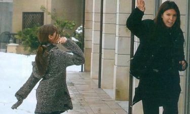 Βάνα Μπάρμπα: Χιονοπόλεμος με την κόρη της