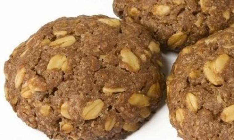 Αμερικάνικα μπισκότα με φυστικοβούτυρο χωρίς ψήσιμο