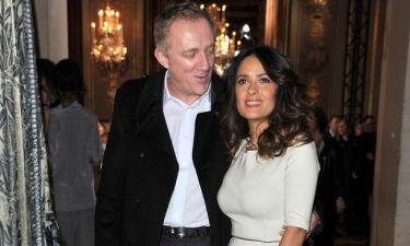 Salma Hayek: Με τον σύζυγό της στο Παρίσι (φωτό)