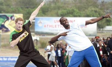 Ο Πρίγκιπας Harry εναντίον του πιο γρήγορου ανθρώπου στον κόσμο Usain Bolt (φωτό)