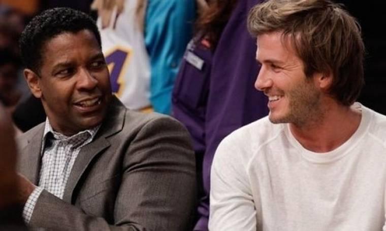 Ο Beckham στο πλευρό του Denzel Whashington