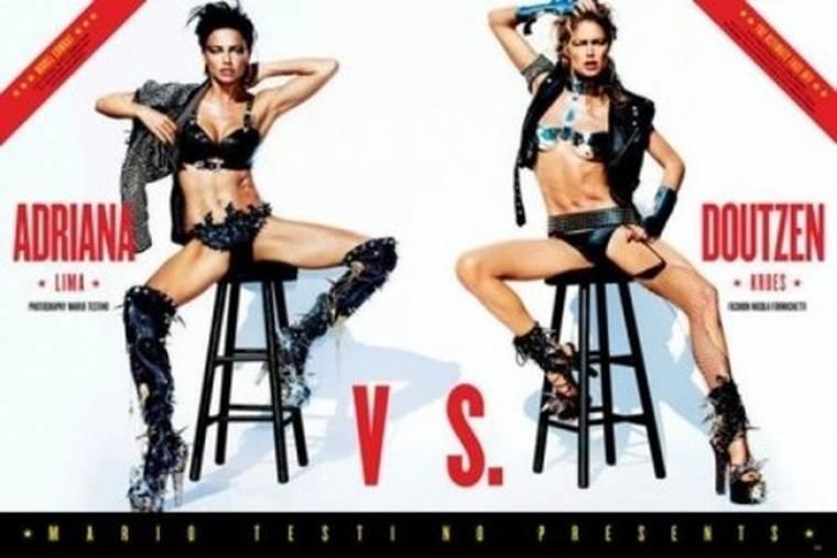 Δύο μοντέλα στο ring