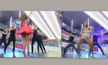 Ελευθερία Ελευθερίου-Dora:Τα upskirts  των κοριτσιών της Eurovision!