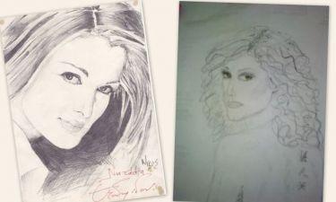 Η Νατάσα Θεοδωρίδου και τα πορτρέτα της!