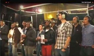 Οι παίκτες της Παρί τραγουδούν τον ύμνο της ομάδας