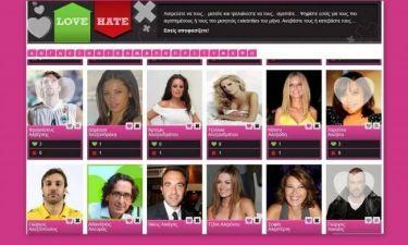 Love and Hate: Το μεγαλύτερο poll της ελληνικής showbiz συνεχίζεται!