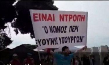 VIDEO: Ένας μαραθωνοδρόμος στέλνει το δικό του μήνυμα στους υπουργούς!