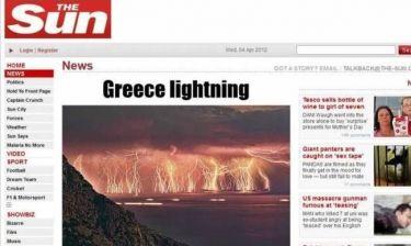«Καταιγίδα» από αστραπές στην Ικαρία
