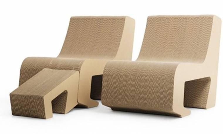 Cool πολυθρόνες από χαρτόκουτο!