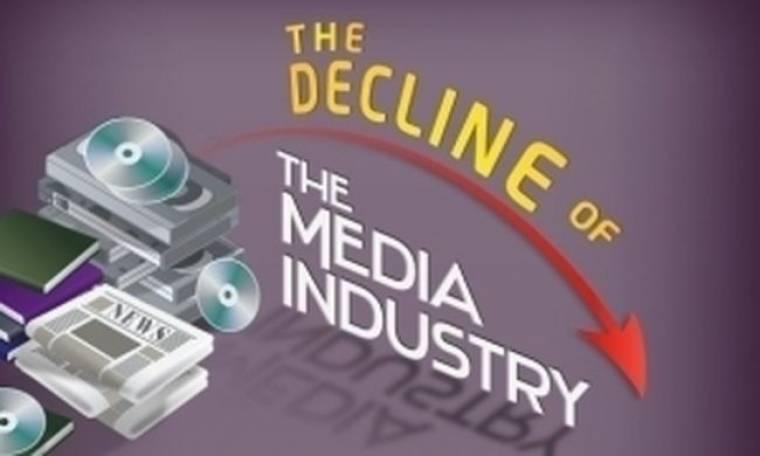 Η πτώση των εφημερίδων και η κυριαρχία του internet (infographic)