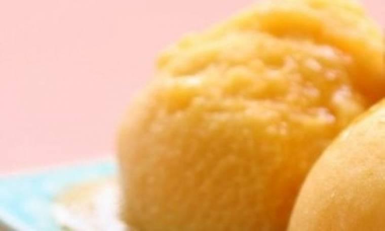Γρήγορο ανοιξιάτικο sorbet πορτοκαλιού
