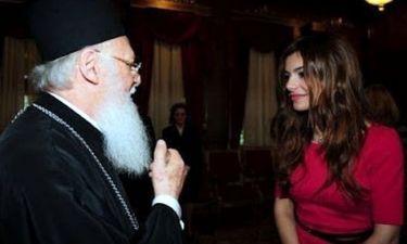 Ελευθερία Ελευθερίου: Πήρε την ευχή από τον Πατριάρχη σε κλίμα συγκίνησης