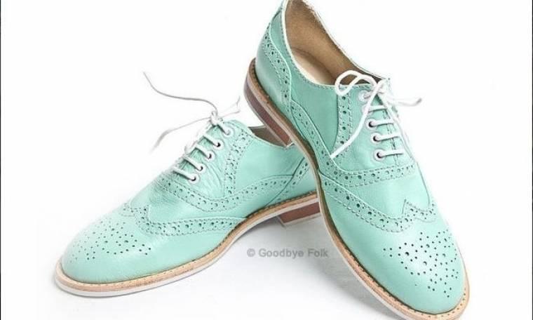 Γυναικεία oxford shoes με μεξικάνικη φαντασία