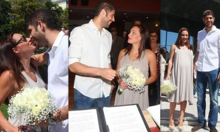 Στιγμιότυπα από τον πολιτικό γάμο Τσουρή-Βασιλόπουλου!