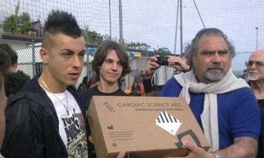Ο Stephan El Shaarawy δώρισε έναν απινιδωτή στην πρώην ομάδα του