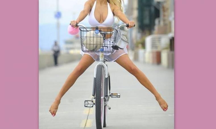 Γεννημένη ποδηλάτισσα η…  (φωτό)