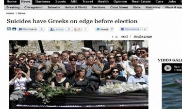 «Σοκάρει η άνοδος των αυτοκτονιών στην Ελλάδα», γράφει ο ξένος Τύπος