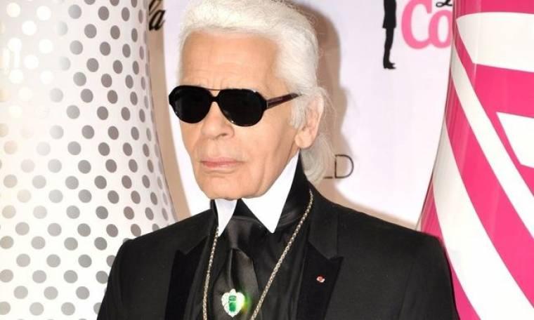 Ο Karl Lagerfeld στην Μύκονο