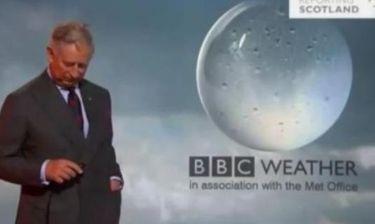 Ο πρίγκιπας Κάρολος παρουσιάζει… τον καιρό στο BBC!