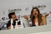 Eurovision 2012: Η πρώτη συνέντευξη Τύπου της Ελευθερίας Ελευθερίου (φωτό)