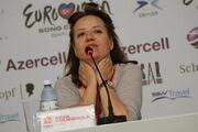 Eurovision 2012: Η πρώτη συνέντευξη Τύπου της Ελευθερίας Ελευθερίου (φωτό)
