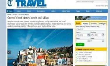 Τα πολυτελέστερα ξενοδοχεία των ελληνικών νησιών στην Telegraph