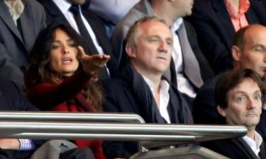 Salma Hayek: Στο γήπεδο με τον σύζυγό της