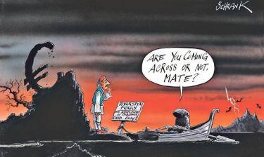 Γελοιογραφία της Independent: Τσολιάς αντιμέτωπος με τον Χάρο!