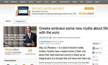 Reuters: Οι νέοι μύθοι για το ευρώ που πιστεύουν οι Έλληνες