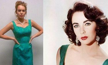 H Lindsay Lohan δοκιμάζει κοστούμια για το ρόλο της Elizabeth Taylor