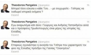 Πάγκαλος στο Twitter: Δεν μπορεί ο Τσο… Τσίπρας να λοιδορεί