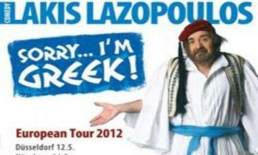 Λάκης Λαζόπουλος: Δείτε ολόκληρη την παράσταση Sorry I'm Greek (vids)