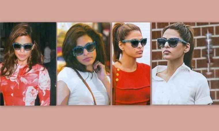 Eva Mendes: Δεν αποχωρίζεται τ' αγαπημένα της γυαλιά