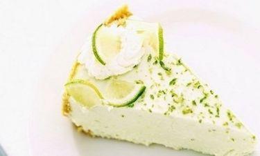 Γλυκό: cheesecake με άρωμα λεμονιού