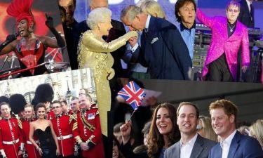Αστέρες της διεθνούς showbiz στις εκδηλώσεις εορτασμού των 60 χρόνων βασιλείας της Ελισάβετ (φωτό)