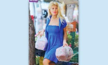 Τα ψώνια της Μενεγάκη στην λαϊκή