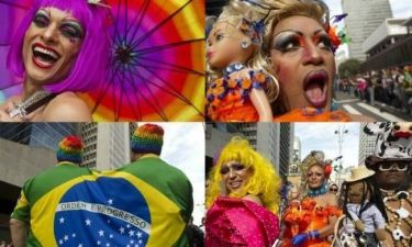 Gay Parade: To Σάο Παόλο έγινε πολύχρωμο! (pics)