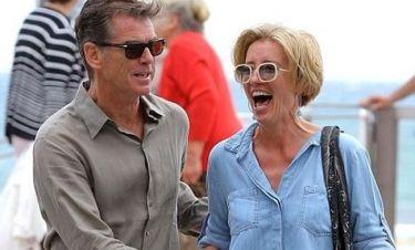 Pierce Brosnan – Emma Thompson: Διασκεδάζοντας στις Κάννες