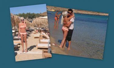 Τζούλια Αλεξανδράτου: Λίγο κρασί, λίγο θάλασσα και τ' αγόρι της!