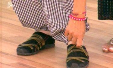 Με ποιου τα παπούτσια ενθουσιάστηκε η Ελένη Μενεγάκη;