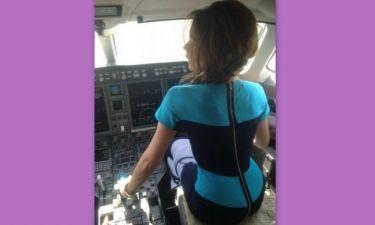 Η Victoria Beckham… διασκεδάζει στην πτήση Λος Άντζελες – Βανκούβερ