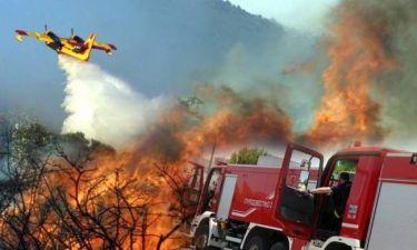 Μεγάλη φωτιά σε Παλαιά Φώκαια - Κερατέα