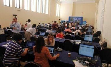 Βουλευτικές εκλογές 2012: Έχει κατακλυστεί το Ζάππειο από ξένους δημοσιογράφους