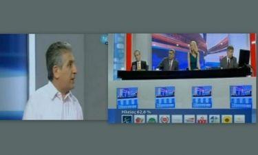Εκλογές 2012 Αποτελέσματα: Καυγάς στη ΝΕΤ ανάμεσα στην Στάη και τον Μαυρίκο!
