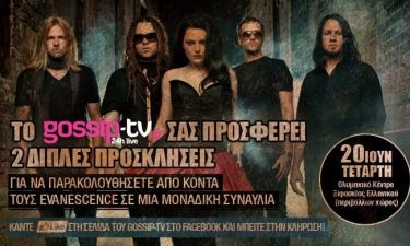 Οι νικητές του διαγωνισμού του gossip-tv για την συναυλία των Evanescence!