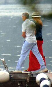 George Clooney-Stacy Keibler: Ρομαντική βόλτα με σκάφος